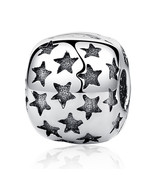 Authentic 925 Sterling Silver Bead Charm Vintage Full Star Stopper - $14.99