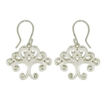 Stylish Shiny Tree Of Life 925 Sterling Silver Earring For Pretty Women ... - $41.02