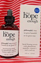 4oz Philosophy WHEN HOPE IS NOT ENOUGH Facial Serum Firming C&E Peptides... - $79.18
