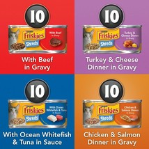 Friskies Shreds in Gravy Variety Pack Canned Cat Food, 5.5-oz, case of 40 - $35.28