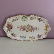 Lenox Constitution Candy Dish Limited Edition 1996 Flowers 14K Gold   Trimmed - $29.69