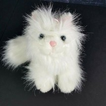 Ganz Webkinz Persian Cat HM110  Plush White Kitten Long Hair No Code Flu... - $11.87