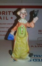 "Hobo Coat/ Hat Ceramic Clown 3"" Tall Collectible Circus Figurine Display... - $3.77"