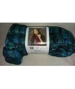 LW2785 Ribbons Ball of Yarn Red Heart Boutique Laguna Navy Blue Green - $8.99