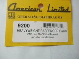 American Limited # 9200 Heavyweight Passenger Car Black Diaphragms HO-Scale image 1