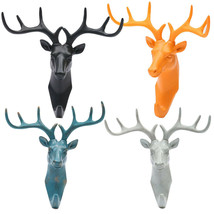 American Country Style Deer Head Antlers Hook Wall Hanging Home Decoration - $22.00