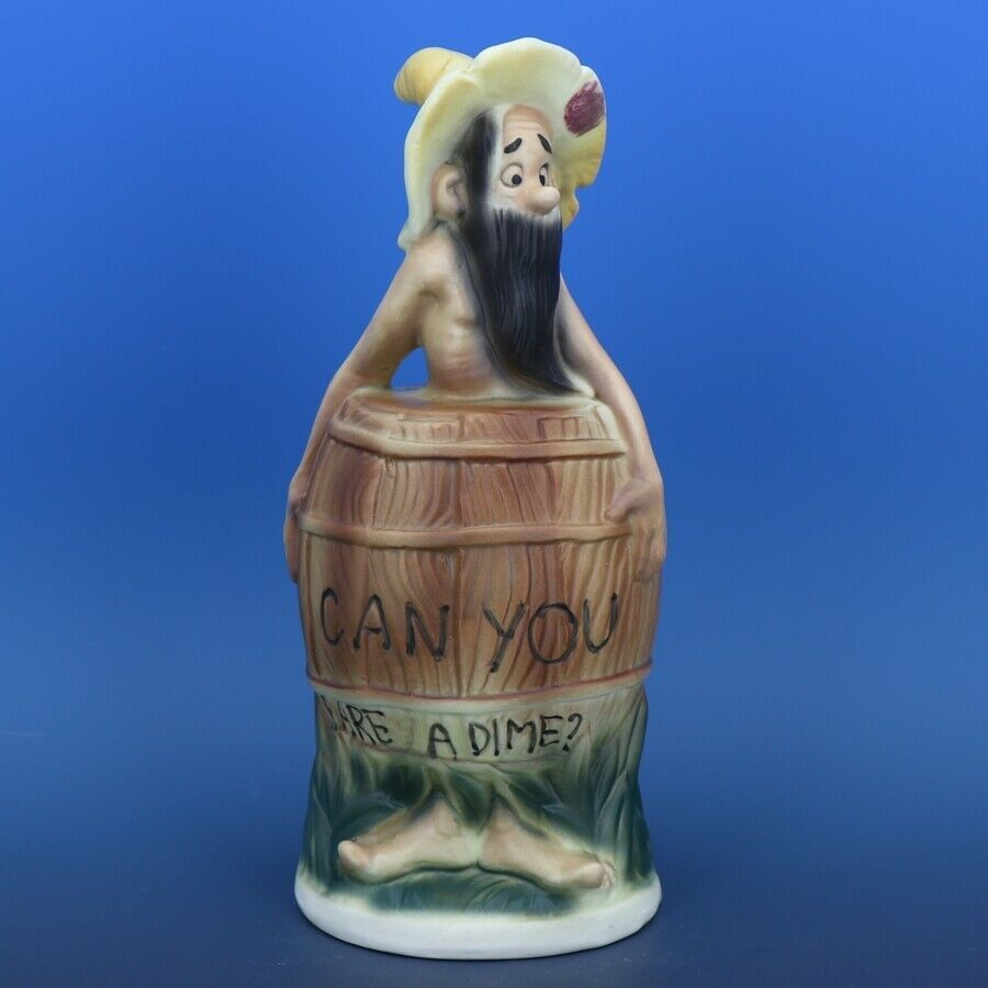 Twin Winton Hillbilly Figurine Skinny Clem Piggy Bank Made in Japan 1950s Scarce