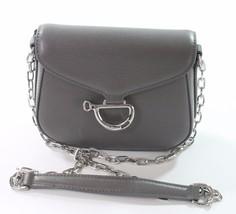 Ralph Lauren Newbury grau Reiter Mini Schultertasche kleine Handtasche - $201.32