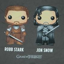 Game of Thrones Robb Stark and Jon Snow Funko POP Figures T-Shirt, NEW UNWORN - $16.21