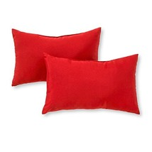 Greendale Home Fashions Rectangle Outdoor Accent Pillow set of 2, Salsa - $32.18
