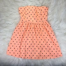 Forever 21 Juniors Large Peach Polka Dots Starpless Dress  - $19.78