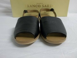 Franco Sarto Size 6 M Velvet Black Leather Ankle Strap Sandals New Women... - $78.21