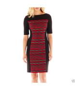 Danny & Nicole 3/4-Sleeve Print Panel Dress Size 4P Msrp $70.00 New - $21.99