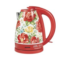 The Pioneer Woman 1.7 Liter Electric Kettle Red/Vintage Floral | Model# ... - $43.55