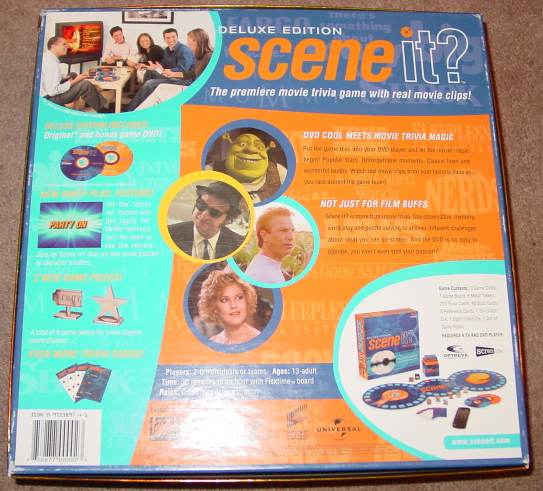 SCENE IT DVD GAME DELUXE EDITION 2004 MATTEL SCREENLIFE LIGHTLY PLAYED CONDITI image 4