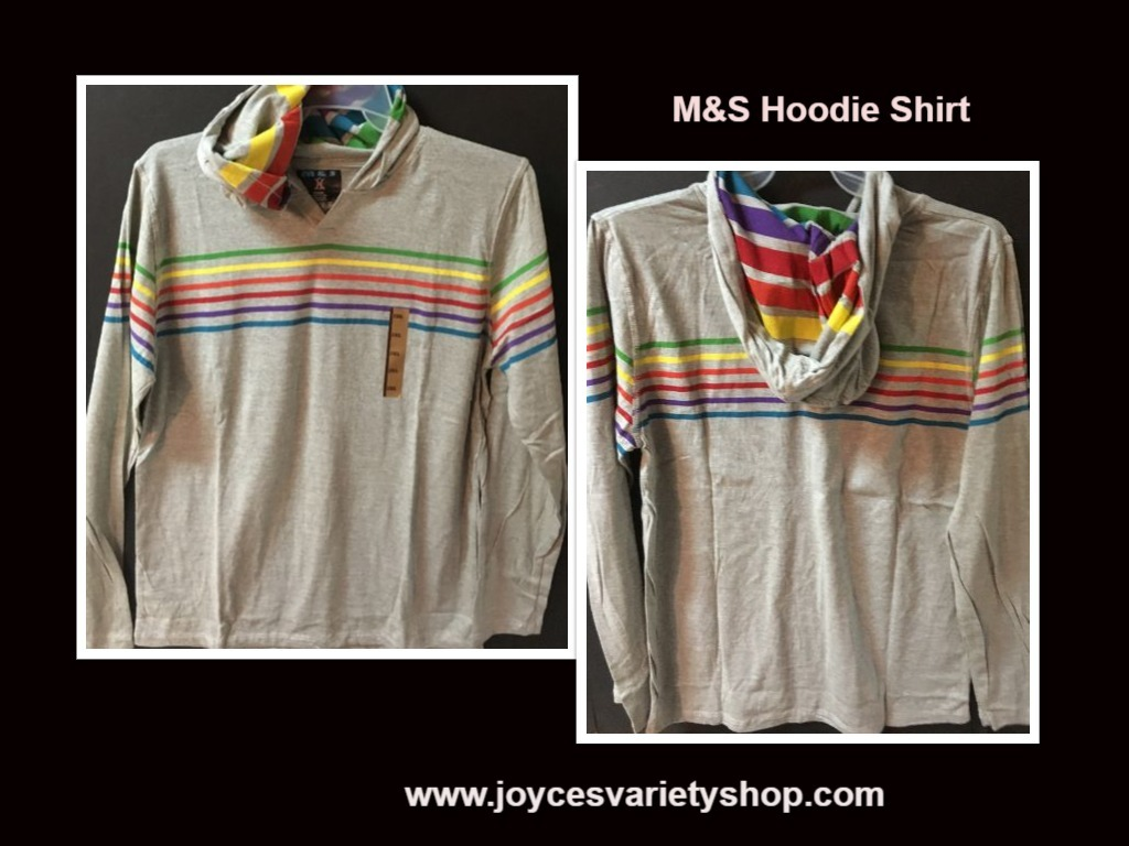 M s gray striped hoodie shirt web collage