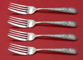"Old Maryland Engraved by Kirk Sterling Silver Fish Fork Set AS Custom 7 1/4"" - $467.10"