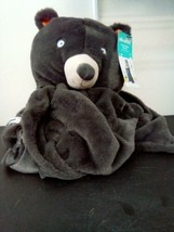 "Bear Micro Plush Hooded Bed Blanket Gray 50"" x 40"" Super Soft - Pillowfort image 1"