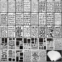 39PCS Letter and Number Stencils Journal Stencils Storage for Notebook, ... - $12.85
