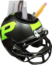 Purdue Boilermakers (Black Matte & Neon) NCAA Football Schutt Mini Helme... - $21.95