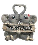"""Ebros Together Forever Kissing Elephant Couple Statue 6.25"""" Long Pachy L... - $20.80"""