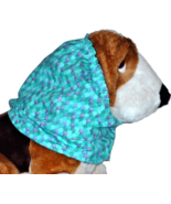 Mermaid Scales Sparkle Turquoise Teal Purple Cotton Dog Snood Size XL - $13.50