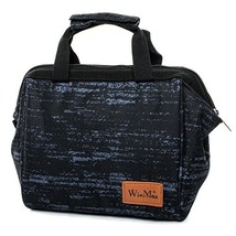 Insulated Lunch Box Lightweight lunch Tote Reusable Lunch bags for Women Grey - $10.01