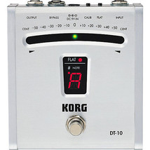 KORG DT-10 Digital Tuner NEW Guitar Effects Pedal w/ FREE PICK - $90.68