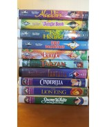 WALT DISNEY'S VHS Masterpiece Lot of 4 Incl. Fantasia & Show White & 5 C... - $989.99
