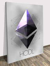 "Ethereum Wall CANVAS PRINT Motivation Hodl Crypto Decor Modern Art 18"" x... - $57.55"