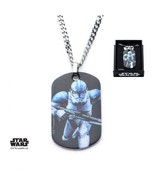 Disney Star Wars Stainless Steel Graphic Stormtrooper Dog Tag Pendant wi... - $31.00