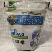Garden of Life 100 Organic Flax  Chia Blend 12 oz 340 g Dairy-Free, Gluten-Free, - $14.02