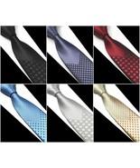Skinny Luxury Men Tie Woven Slim Classic Necktie Wedding Jacquard Stripe... - $9.99