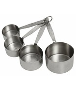 Crestware Heavy-Duty Stainless Steel 4-Piece Measuring Cup Set Kitchen E... - $20.78