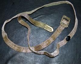 Antique Vintage  Art Deco Metallic Woven Women's Belt - $27.70