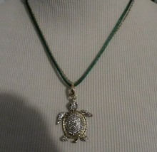 Betsey Johnson Turtle Pave 3 Way Charm Necklace Nwt - $30.00