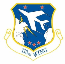 USAF 113th Wing 12'' Sticker Military - $24.74
