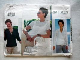 Vogue 2308 Sewing Pattern Misses Blouse American Designer Anne Klein SZ ... - $7.35