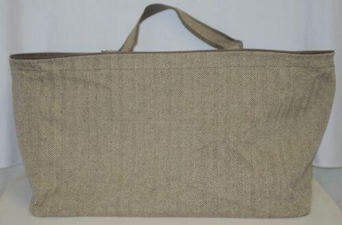 WB Brand M630HRBN Herringbone Ultimate Tote Cotton Inside Lining