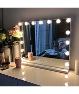 FENCHILIN Large Vanity Mirror with Lights, Hollywood Lighted Makeup Mirr... - $137.99