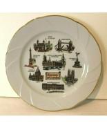 London England Vintage Souvenir Wall Plate Gold Trim England White Fine ... - $24.99