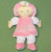 "Kids Preferred Plush BABY DOLL 12"" Pink Blond Blue Eyes Daisy Flower Dress 2010 - $23.36"