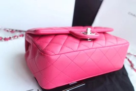 AUTHENTIC CHANEL PINK QUILTED LAMBSKIN LARGE RECTANGULAR MINI CLASSIC FLAP BAG  image 6