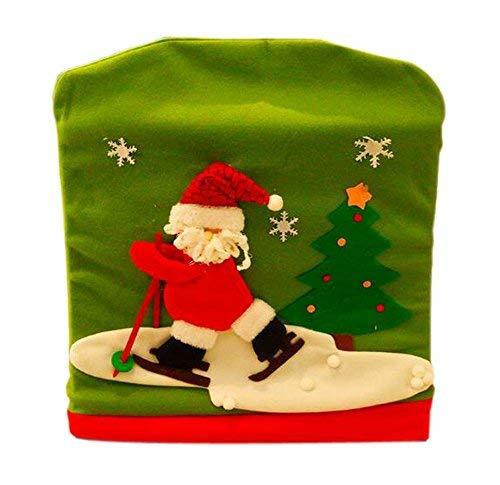 Panda Superstore Christmas Chair Cover Creative Christmas Chair Sets Decor, Skii