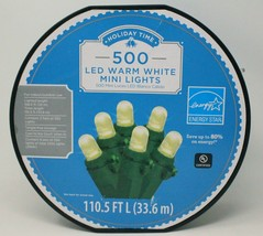 Holiday Time 500 Counts LED Warm White Mini Lights Energy Star UL 110.5 FT - $56.09