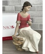 Nao by Lladro 02012037 SPRING REFLECTIONS  Porcelain Figurine Gres New  - $175.00