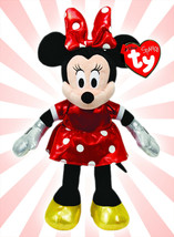 "TY Disney Minnie Mouse Sparkle Plush Toy Small 8"" NEW - $10.34"
