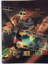 1991 USPS Soft Cover Commemorative Stamp Collection BOOK w/ Sleeve ONLY. - $10.00