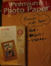New Kodak Photo Paper 100 Sheets And 40 4 X 6 Photo Paper All Included - $6.50
