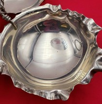 Unique Vintage Sterling Silver 3 Part Candy Dish w/ Scalloped Edge #6747 image 2